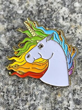 Majestic Unicorn Enamel Pin