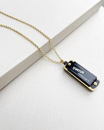 Functional Mini Harmonica Necklace