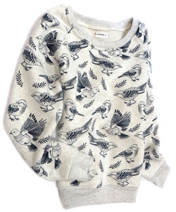 Illustrated Bird Pullover