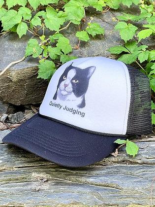 """Quietly Judging"" Mesh-Back Trucker Hat"