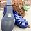 Thumbnail: Lulu Hun Leather Wedge Sandals ~ Size 7.5