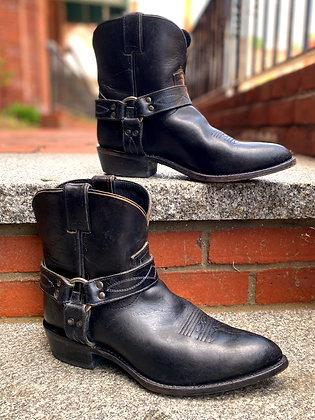 FRYE Black Leather Western Booties ~ Size 11/9.5