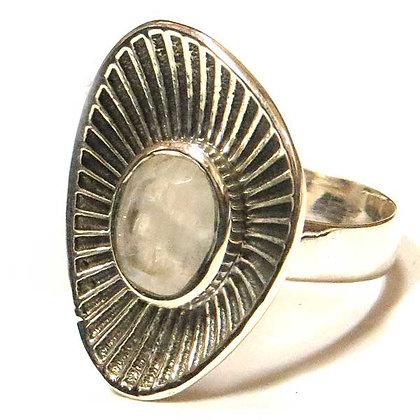 Sterling & Moonstone Amoeba Ring