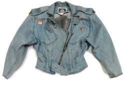 '80s Denim Motorcycle Jacket