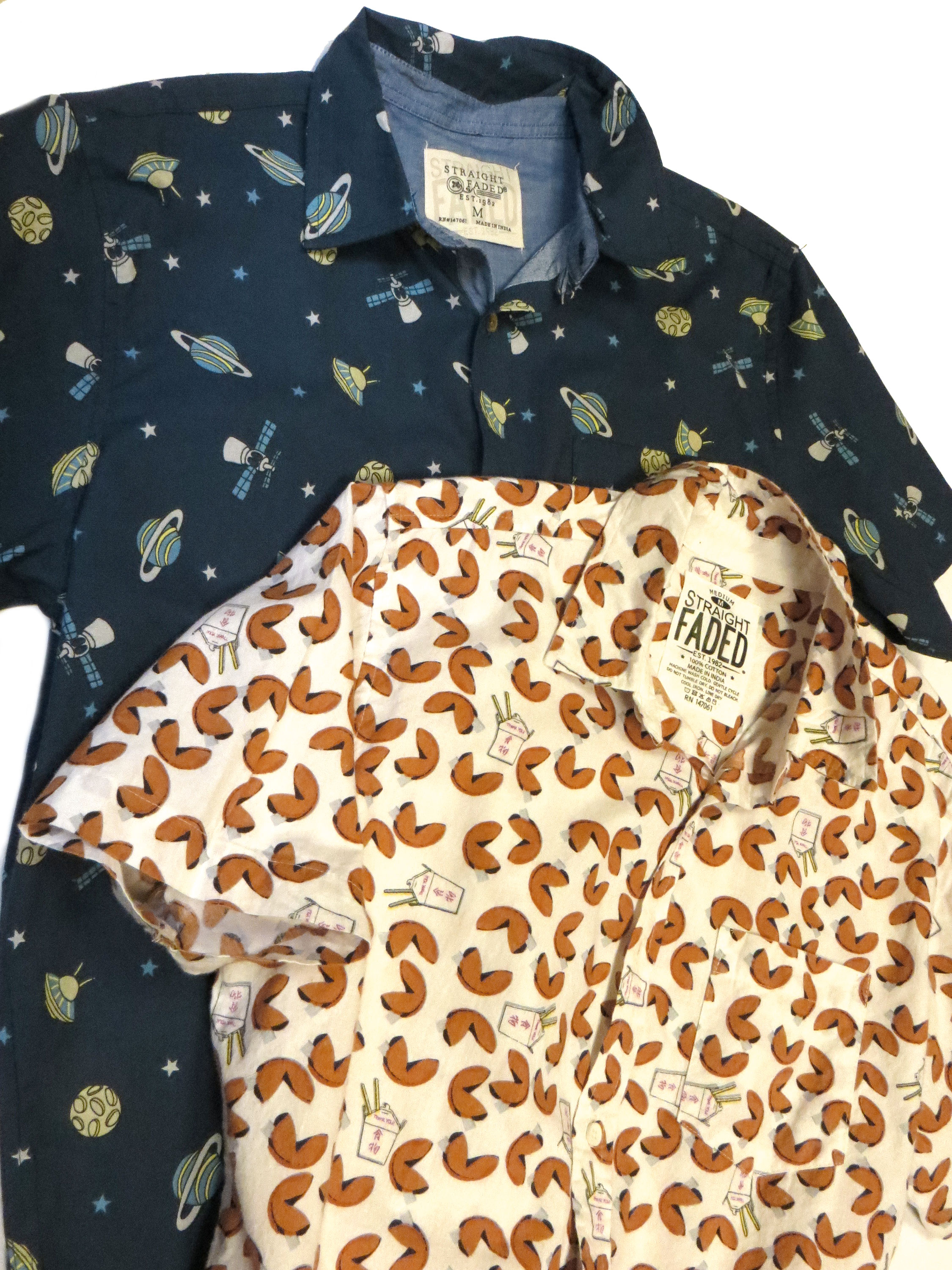 Printed Short Sleeve Oxfords