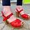 Thumbnail: Shelby Crimson Platform Sandals