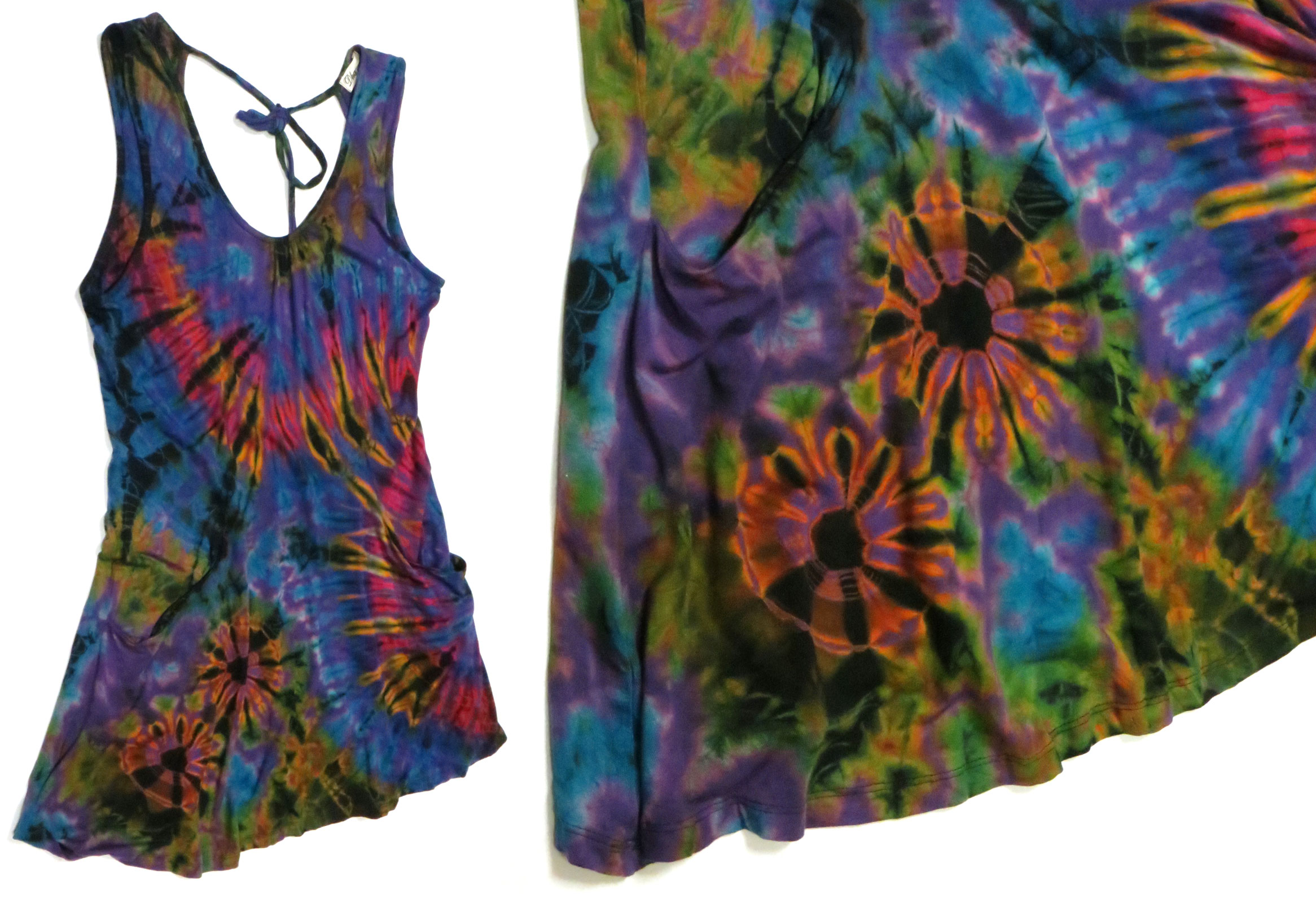 faa479f31227a Stretch rayon tie-dye tank dress