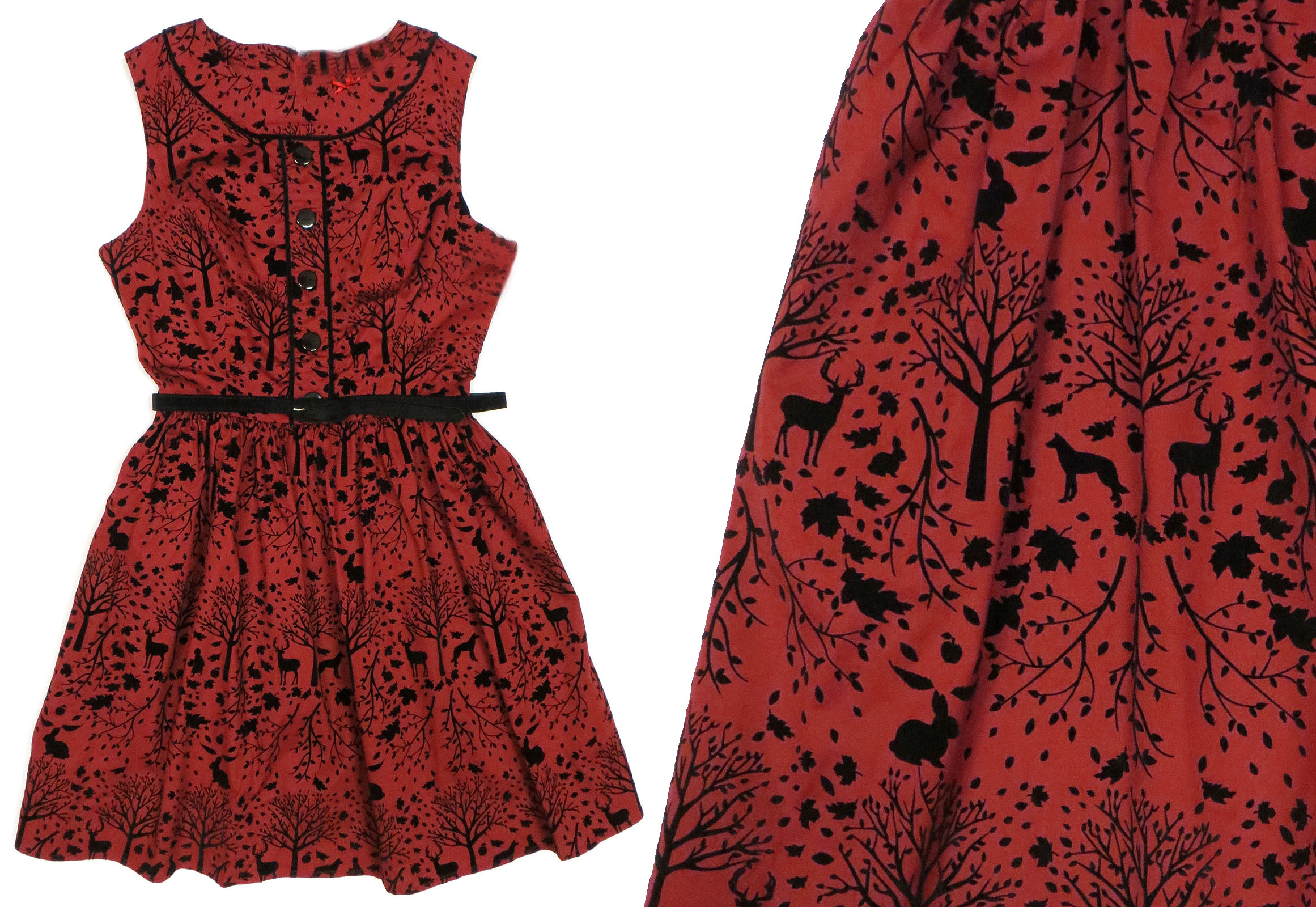 2d5d173cf9b5d Crimson Forest Dress