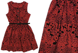 Crimson Forest Dress