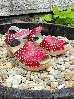 Cape Clogs Polka Dot Sandals  ~ Size 41