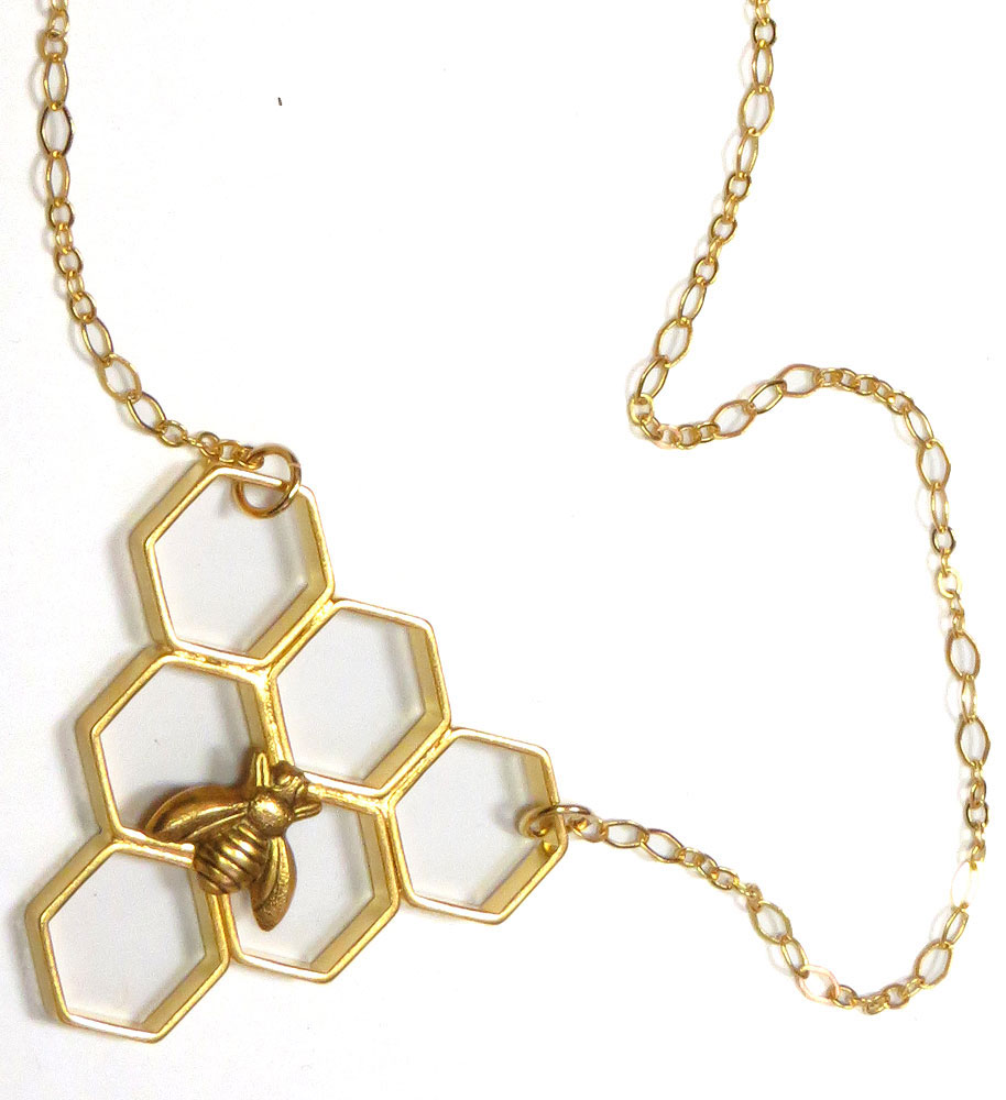 Geo Honeycomb Necklace