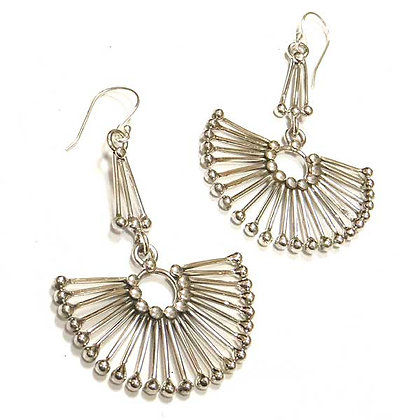 Sterling Fan Earrings