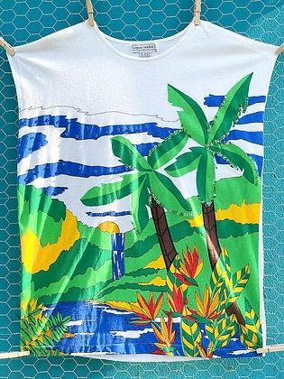 Vintage '80s Tropical Cut-Off T-Shirt