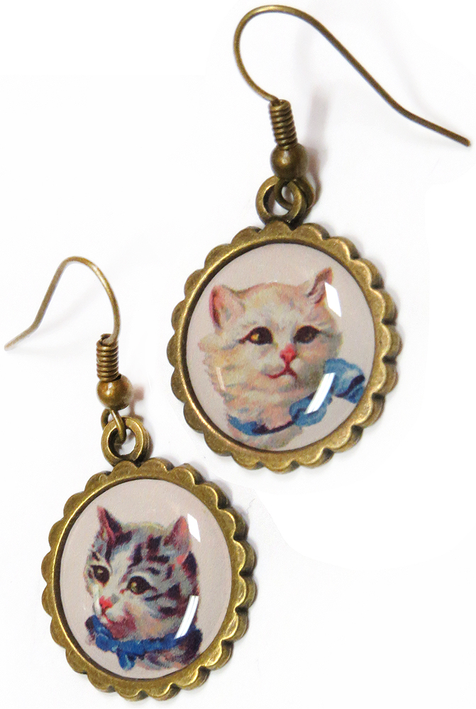 Kitty Portrait Earrings