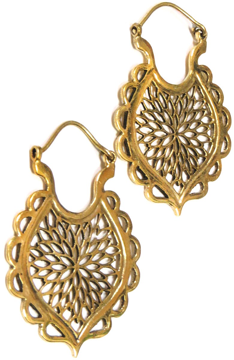 Brass Indian Earrings
