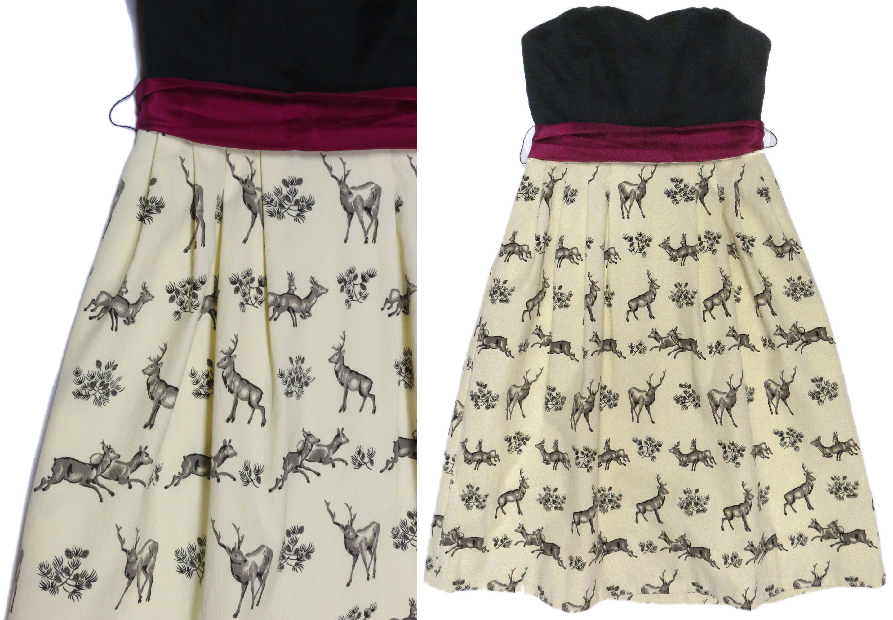 Strapless Deer Print Dress