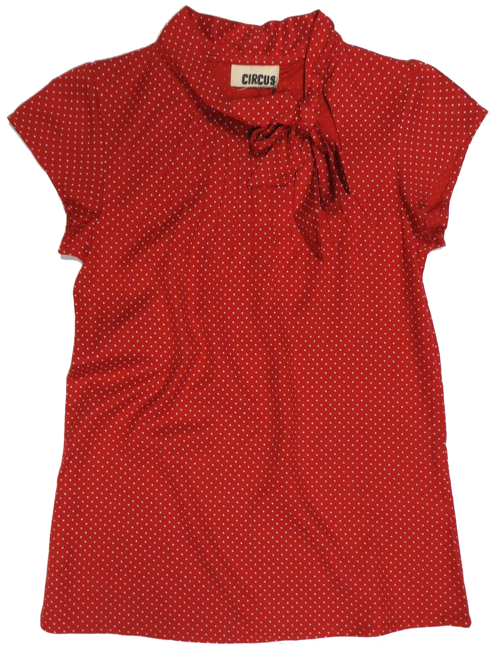 Dotted Red Keyhole Top