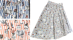 Vintage-Print-Cotton-Skirt