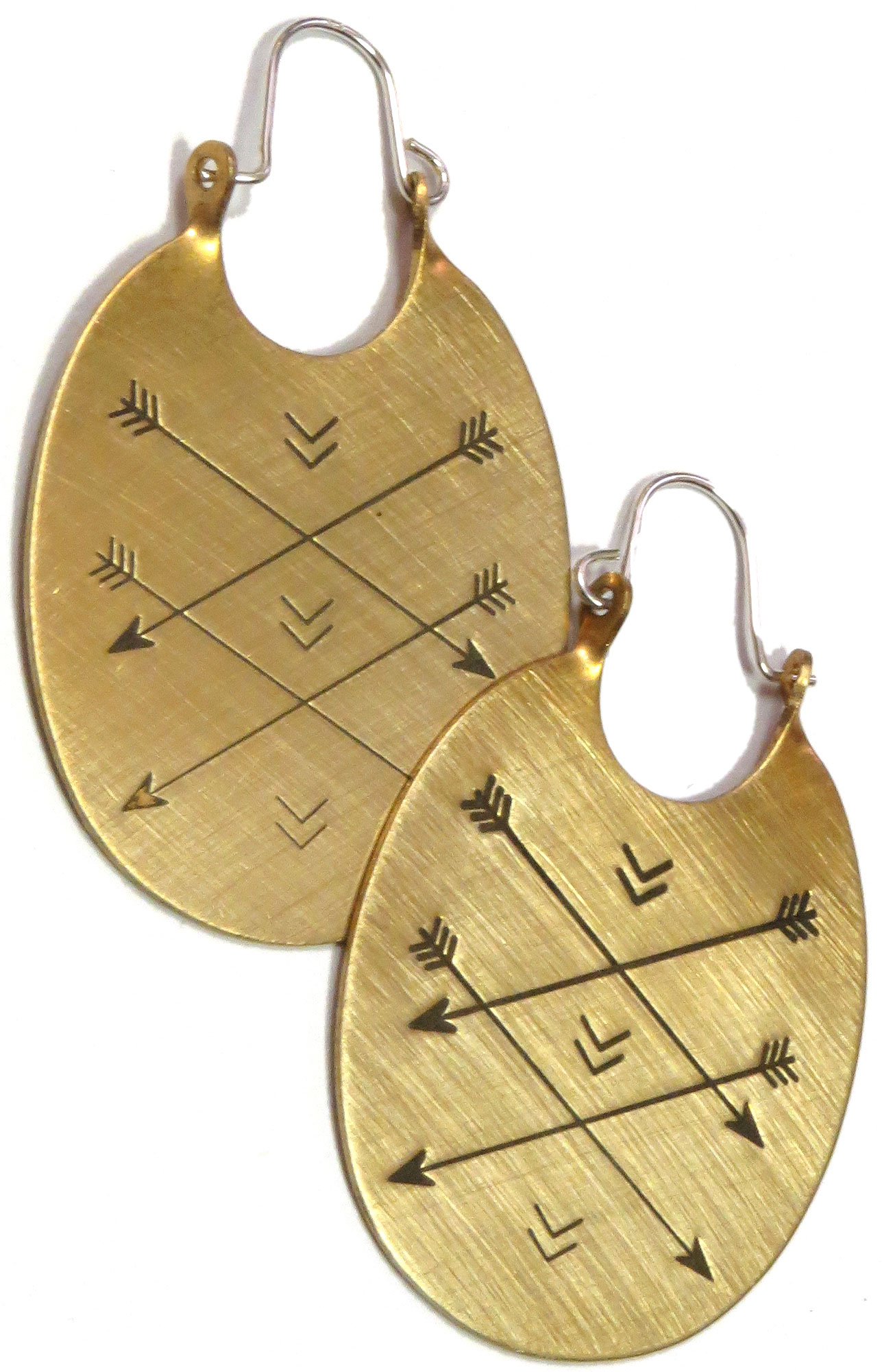 Handcrafted Brass Earrings