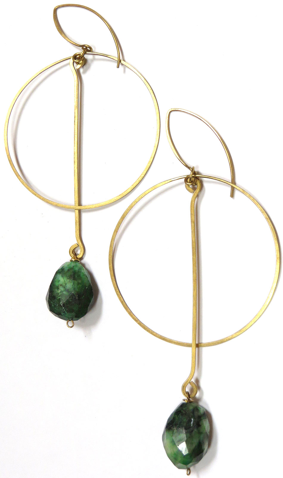 Aventurine Hoops