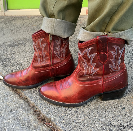 Ariat Red Cowgirl Booties