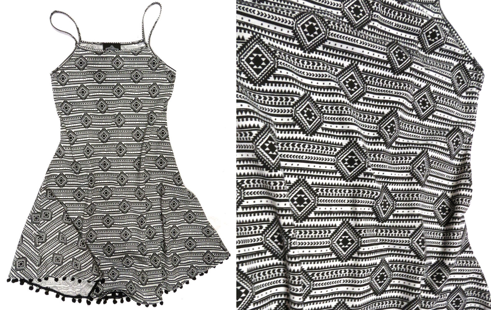 Geo Print Jersey Sundress