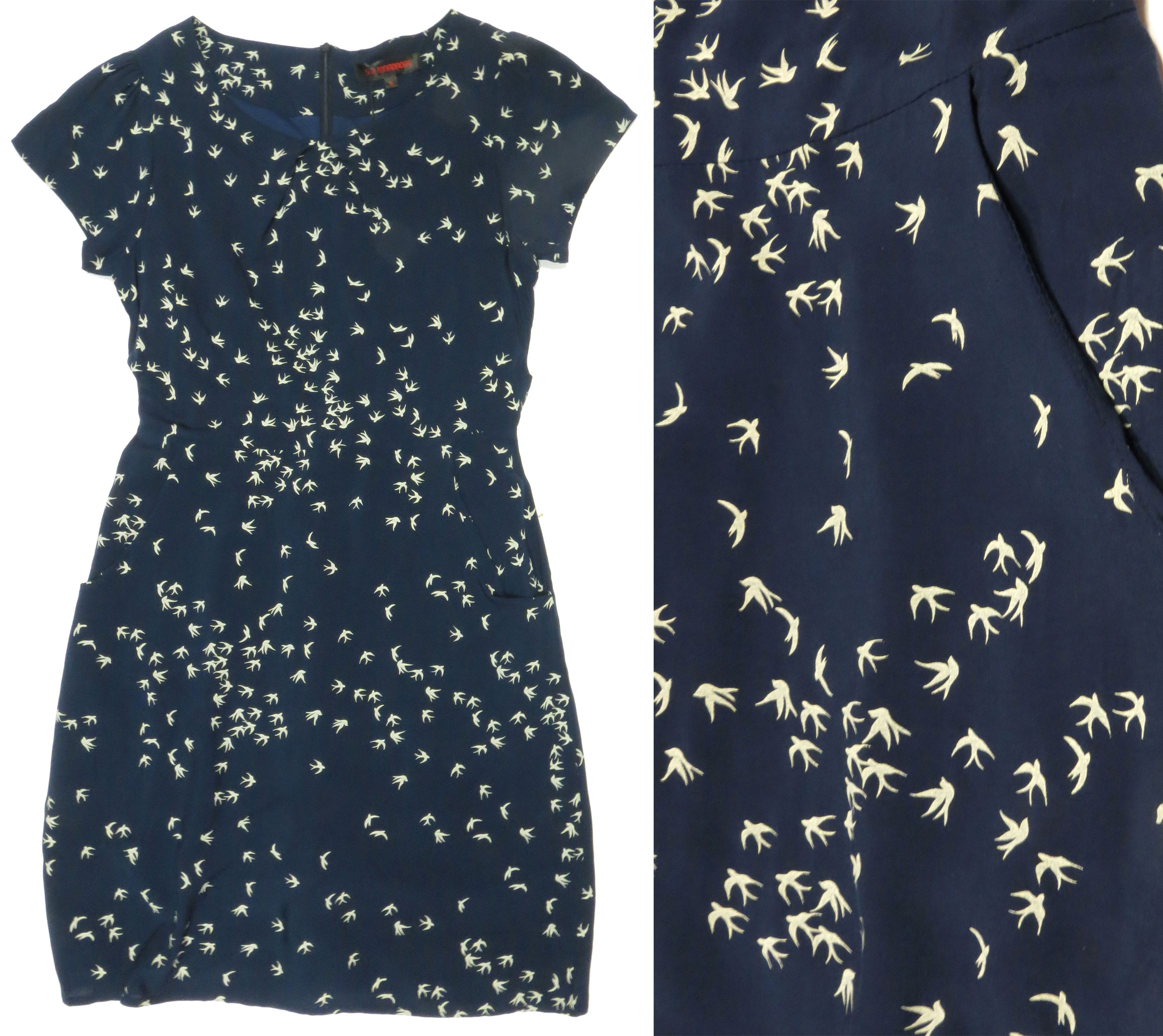 Cap Sleeve Birds Dress