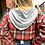 Thumbnail: New Cropped Plaid Zip Up Top