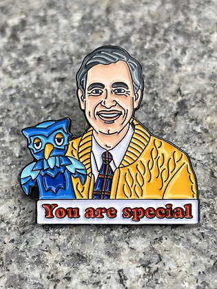 """""""You Are Special"""" Mr. Rogers Enamel Pin"""