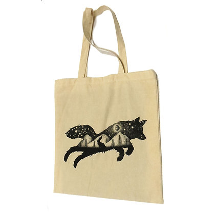 NEW Leaping Wolf/Night Sky Tote Bag