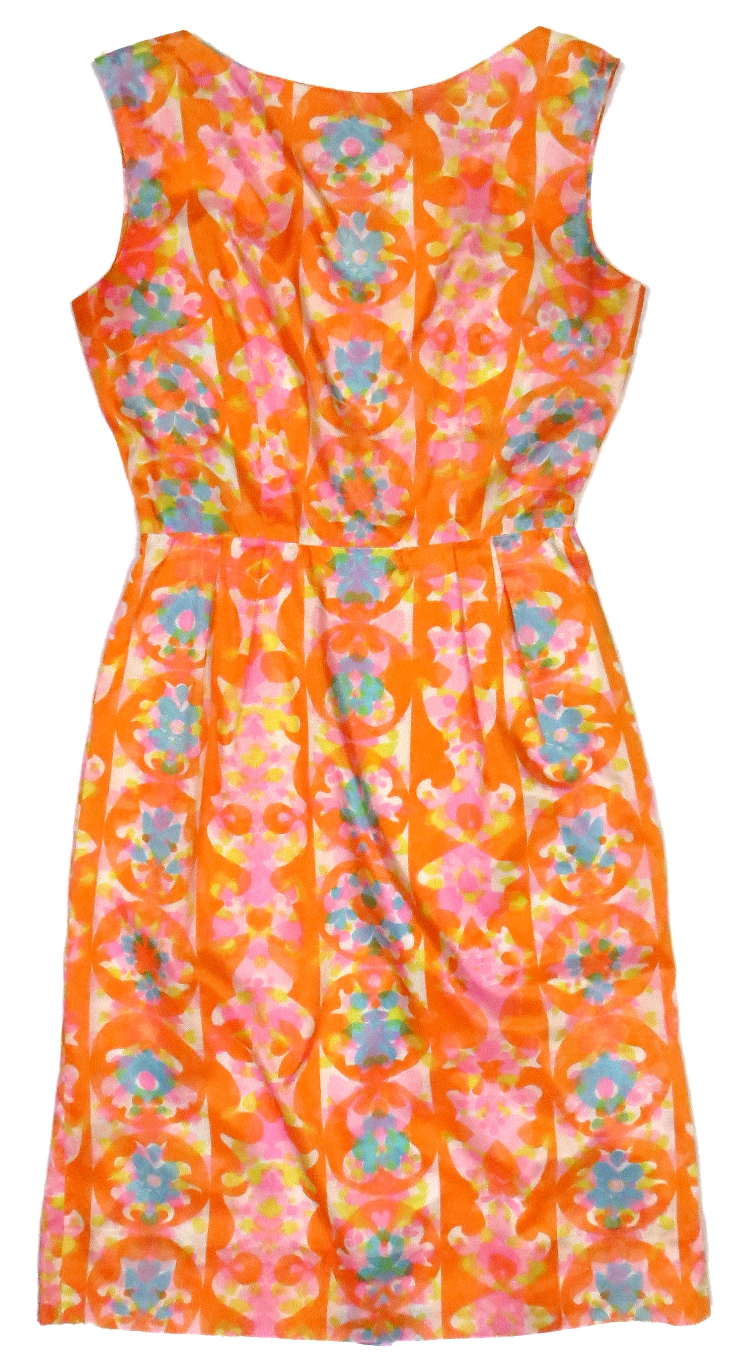 '60s Abstract Floral Cocktail Dress