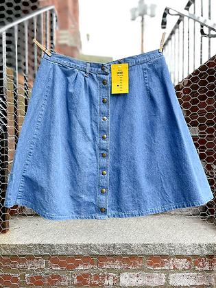Vintage '70s XL Denim Skirt