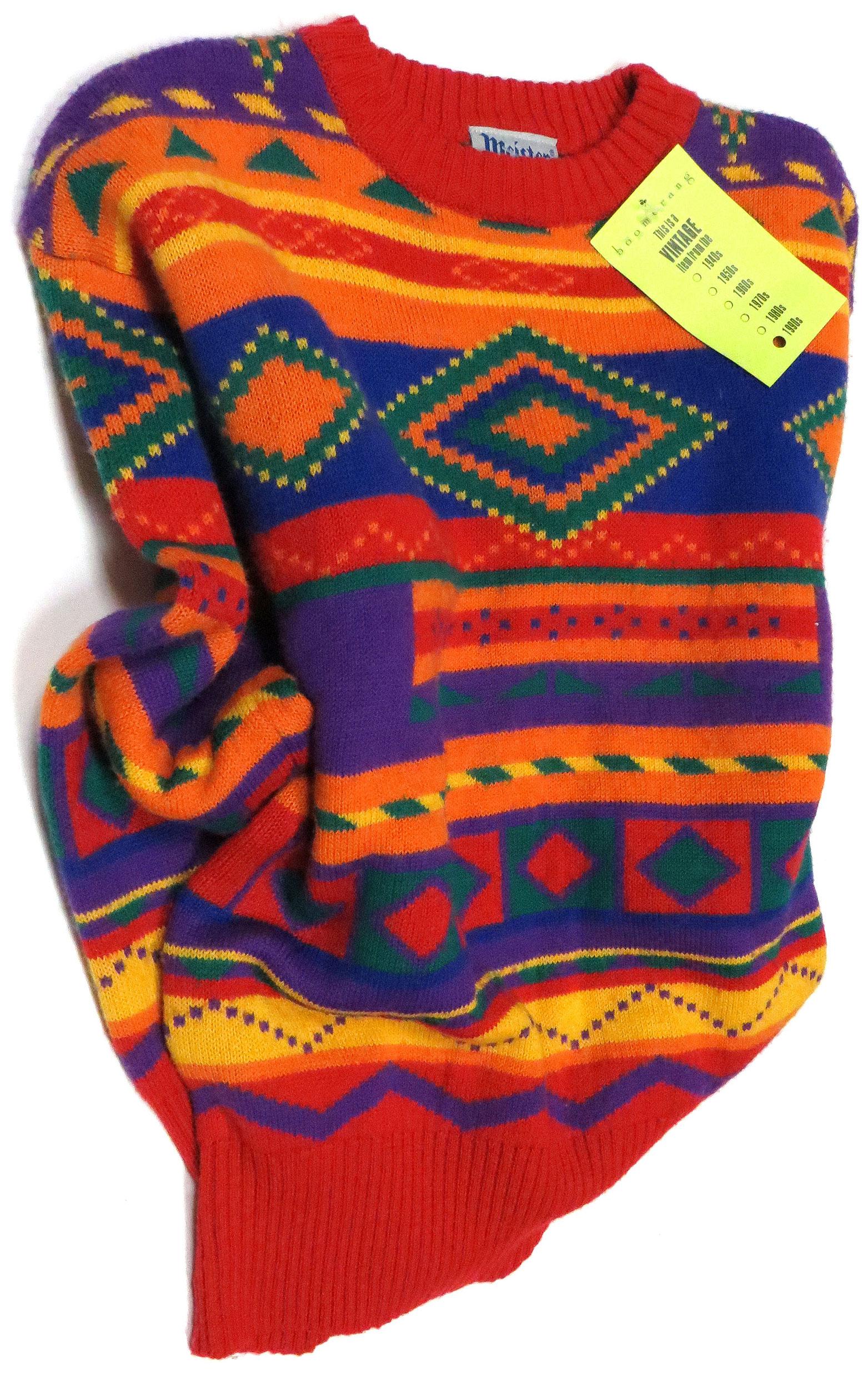 8dbe80899f148 Vintage  80s Ski Sweater