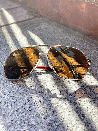 Amber & Gold Aviator Sunglasses