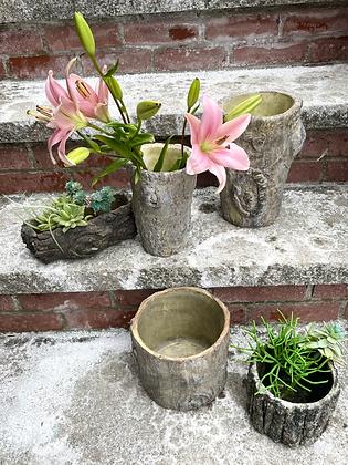 Ceramic Log Planters