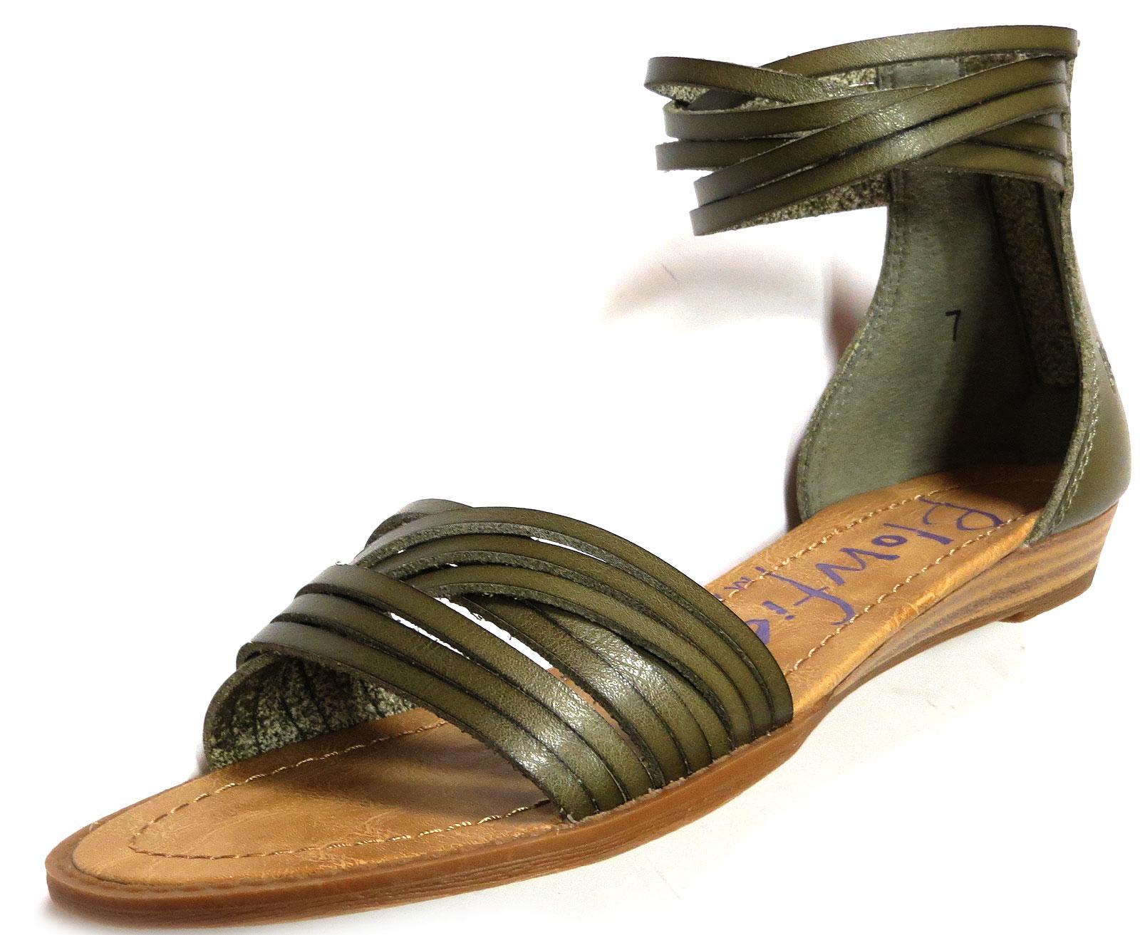 Strappy Sage Sandals
