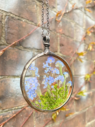 Phlox & Moss Glass Statement Necklace