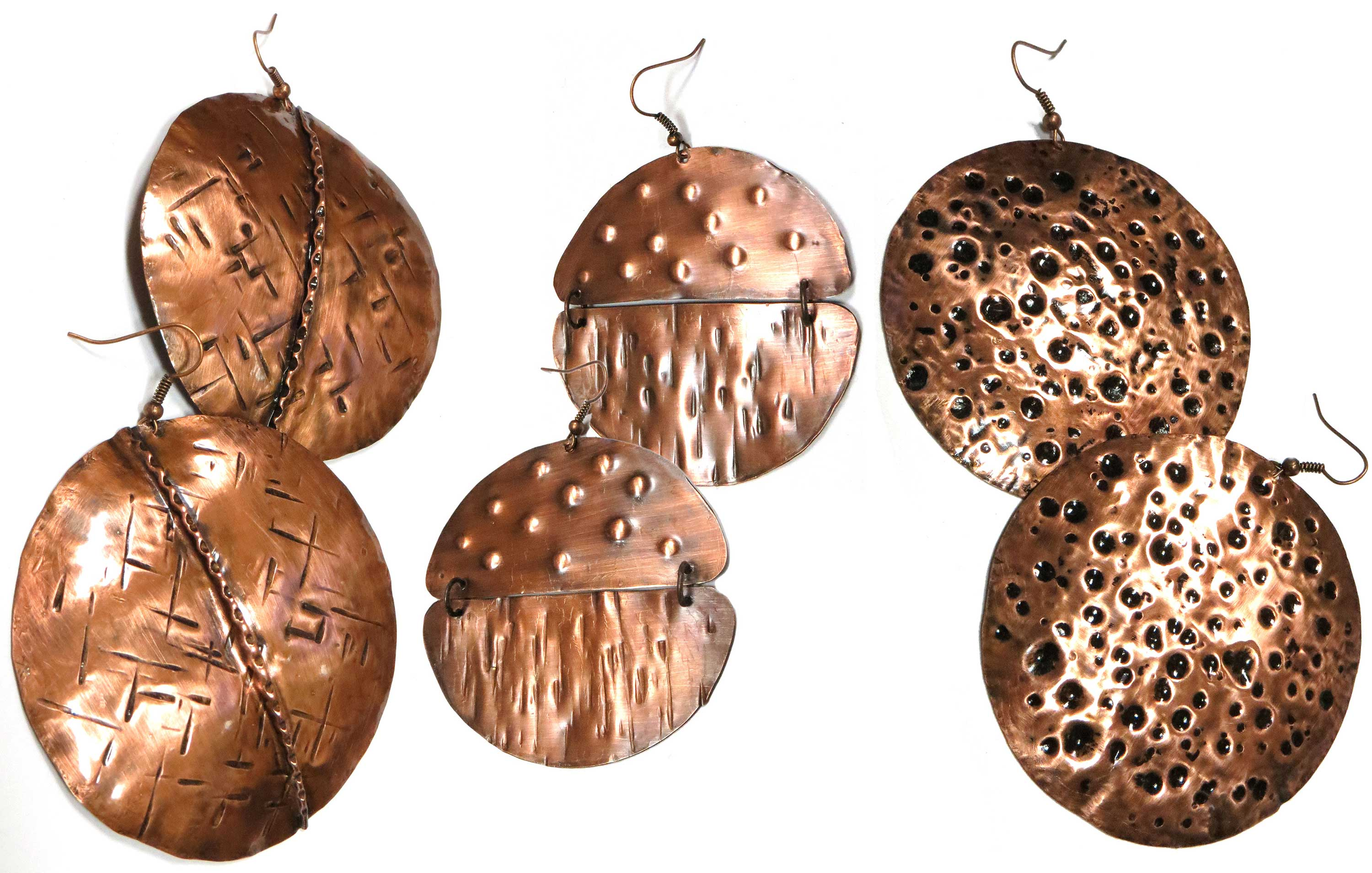 Copper Medallion Earrings