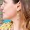 Thumbnail: Handmade Mixed Metal Moon Earrings