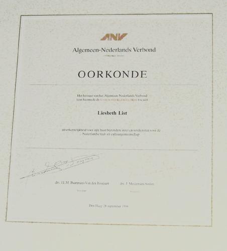 1996 Visser Neerlandia prijs