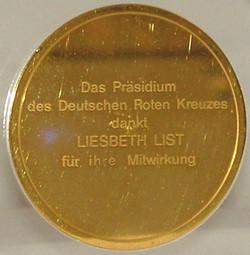 1972 Gouden penning