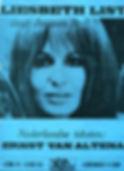 """1969 Bladmuziek LP """"Liesbeth List zingt Jacques Brel"""""""