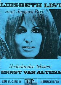 "1969 Bladmuziek LP ""Liesbeth List zingt Jacques Brel"""