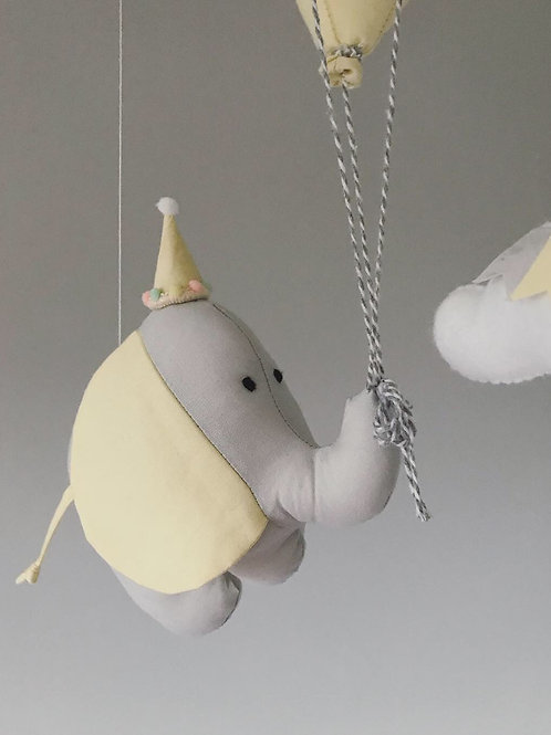 Elephant and Balloons Mobile