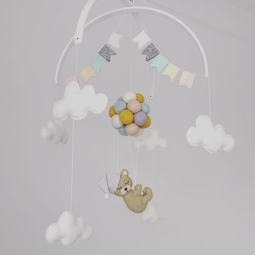 Teddy Floating Baby Mobile