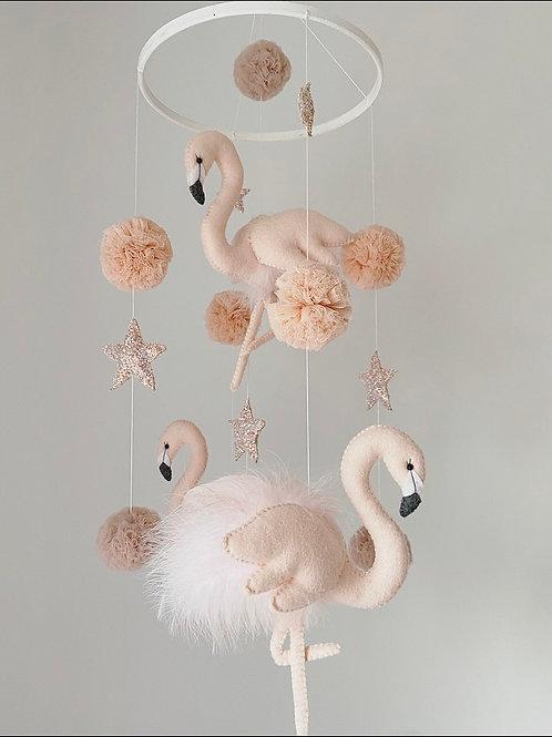 Soft Pink Flamingo Mobile