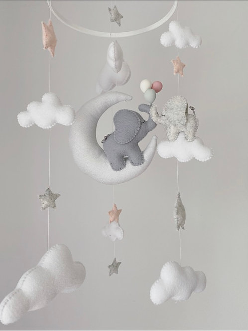 Baby & Mama Elephant Mobile