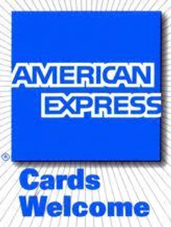 American Express cards accepted