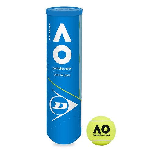 Dunlop Australian Open AO Tennis Balls 18 x 4 Ball Can