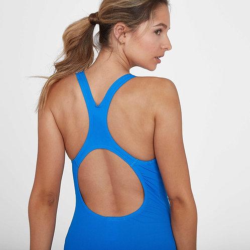 Speedo Womens Essential Endurance+ Medalist Swimsuit Blue